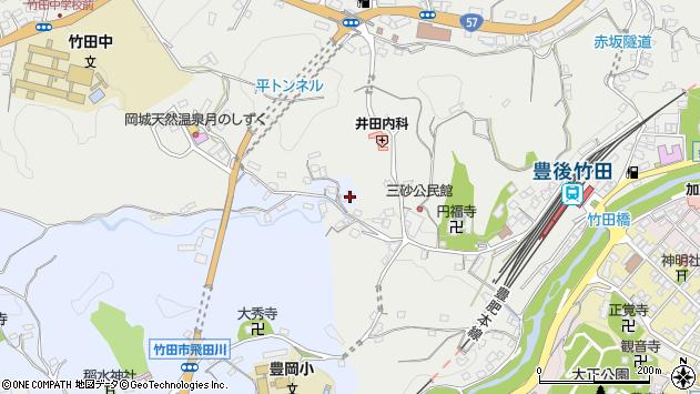 大分県竹田市飛田川3555周辺の地図