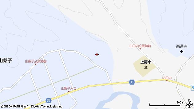大分県佐伯市弥生大字山梨子1846周辺の地図