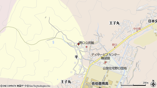 大分県佐伯市鶴望3129周辺の地図