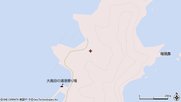 大分県佐伯市鶴見大字大島1106周辺の地図