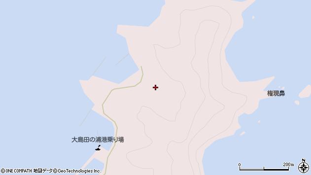 大分県佐伯市鶴見大字大島1117周辺の地図