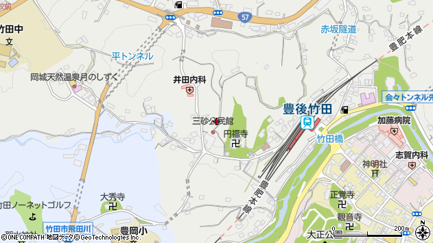 大分県竹田市会々2579周辺の地図