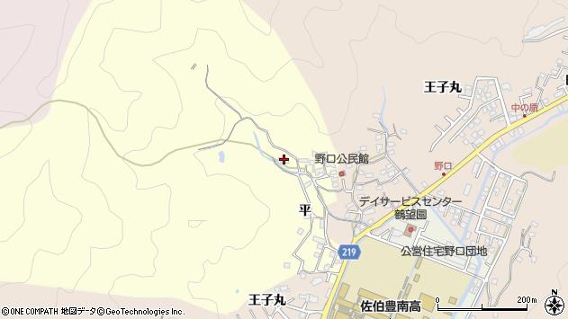大分県佐伯市鶴望3085周辺の地図