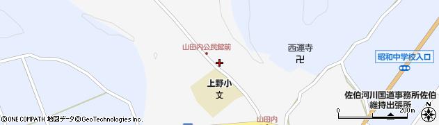 大分県佐伯市弥生大字上小倉386周辺の地図