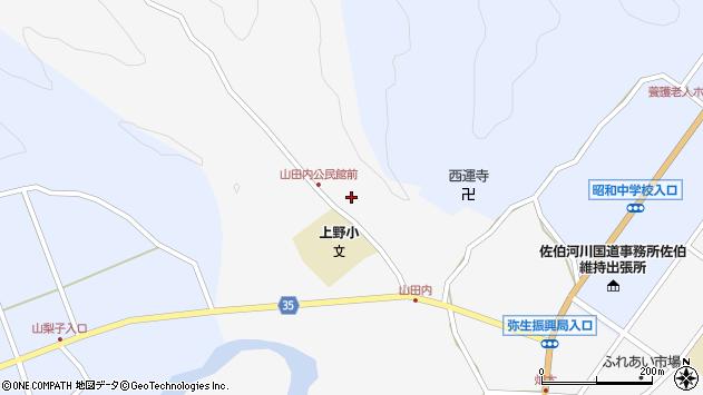 大分県佐伯市弥生大字上小倉439周辺の地図