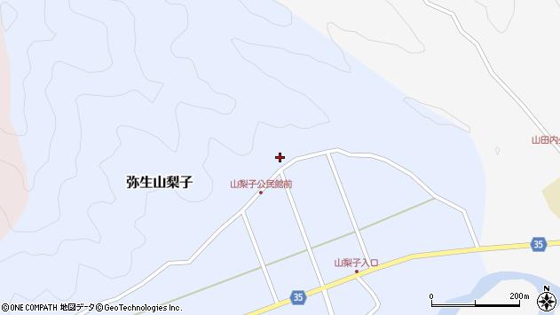 大分県佐伯市弥生大字山梨子1620周辺の地図
