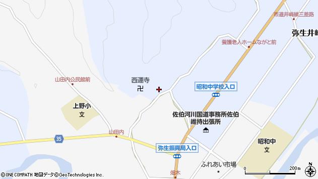 大分県佐伯市弥生大字井崎2519周辺の地図