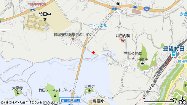 大分県竹田市飛田川3528周辺の地図