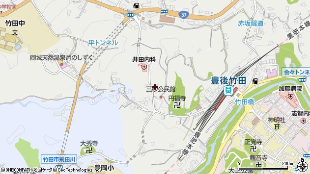 大分県竹田市会々2580周辺の地図