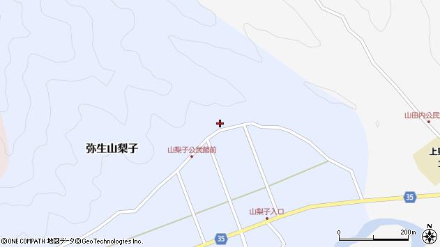 大分県佐伯市弥生大字山梨子1616周辺の地図