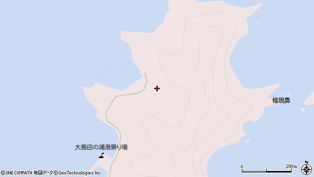 大分県佐伯市鶴見大字大島1025周辺の地図