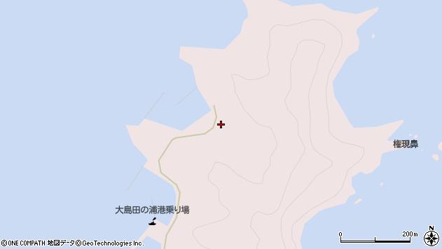大分県佐伯市鶴見大字大島1116周辺の地図