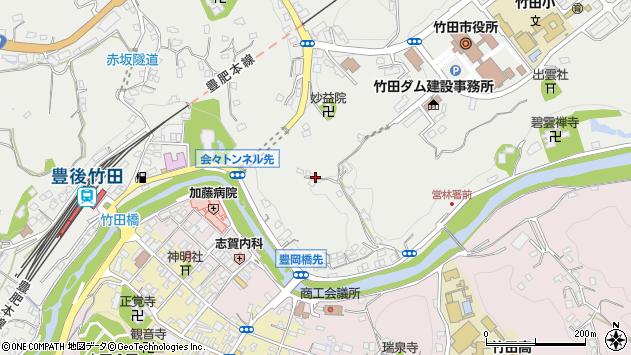 大分県竹田市会々2151周辺の地図