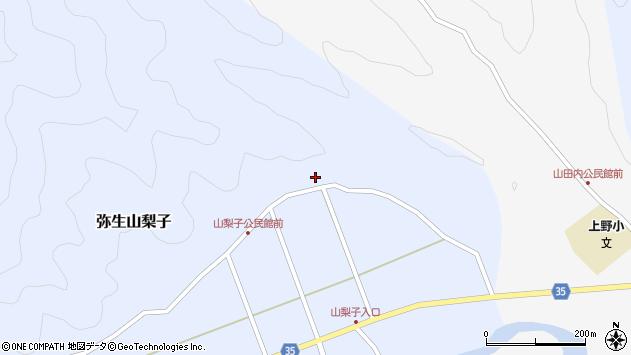 大分県佐伯市弥生大字山梨子1611周辺の地図