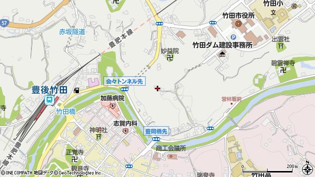 大分県竹田市会々2135周辺の地図