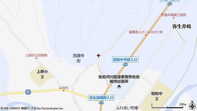 大分県佐伯市弥生大字井崎2494周辺の地図