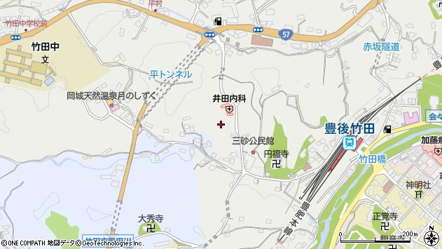大分県竹田市会々2592周辺の地図