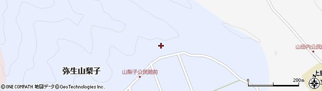 大分県佐伯市弥生大字山梨子山梨子周辺の地図