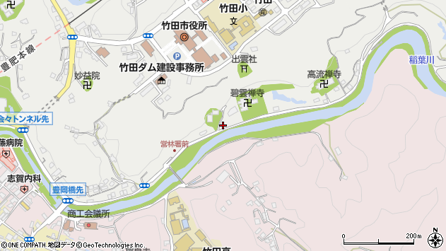 大分県竹田市会々2025周辺の地図