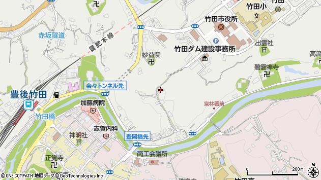 大分県竹田市会々2120周辺の地図