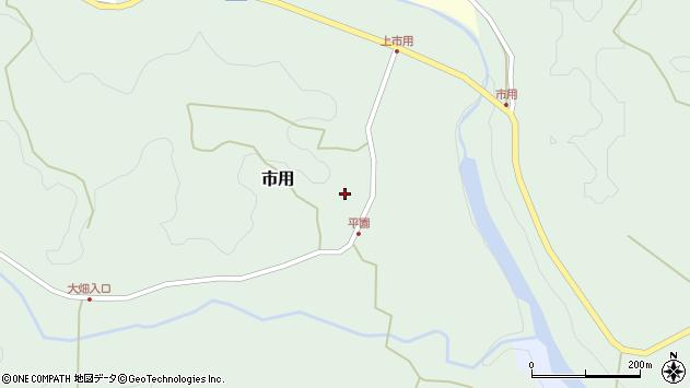 大分県竹田市市用224周辺の地図