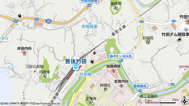 大分県竹田市会々2264周辺の地図