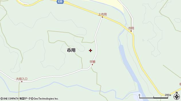 大分県竹田市市用周辺の地図