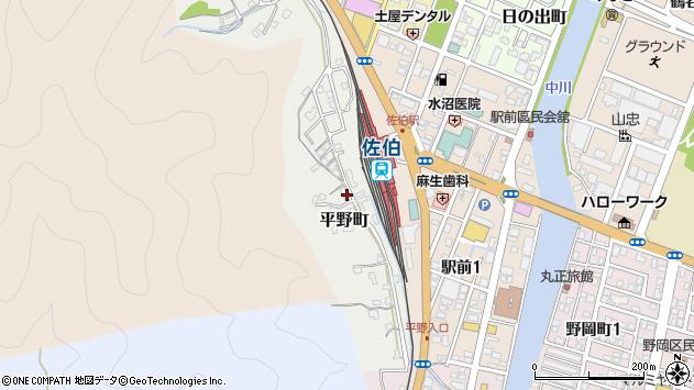 大分県佐伯市平野町周辺の地図