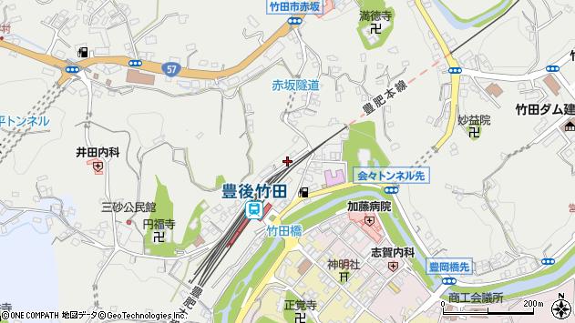 大分県竹田市会々2299周辺の地図