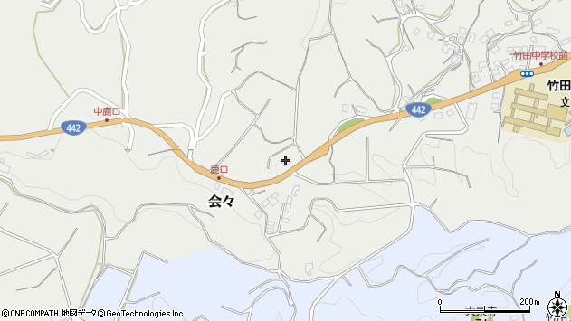 大分県竹田市会々4668周辺の地図