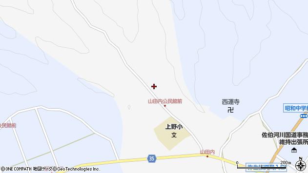 大分県佐伯市弥生大字上小倉358周辺の地図
