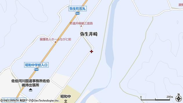 大分県佐伯市弥生大字井崎884周辺の地図