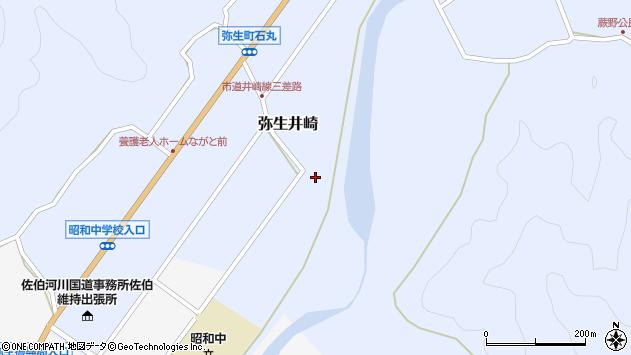 大分県佐伯市弥生大字井崎987周辺の地図