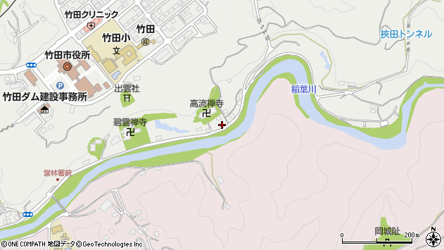 大分県竹田市会々1998周辺の地図