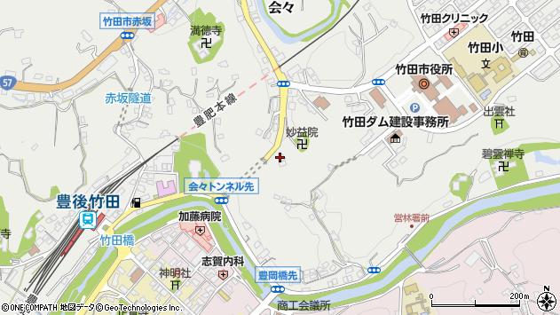 大分県竹田市会々1513周辺の地図