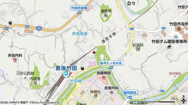 大分県竹田市会々2266周辺の地図