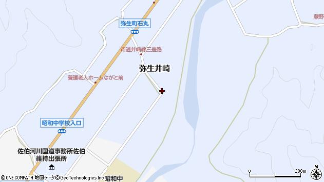 大分県佐伯市弥生大字井崎1075周辺の地図
