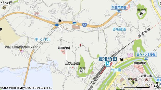 大分県竹田市会々2555周辺の地図