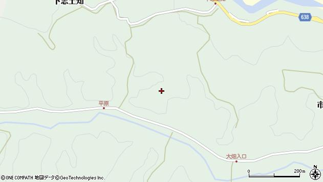 大分県竹田市下志土知868周辺の地図