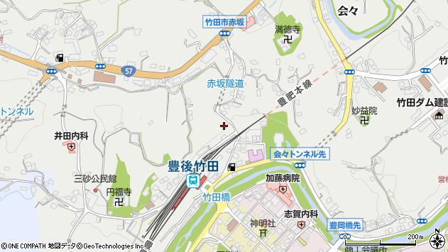 大分県竹田市会々2292周辺の地図