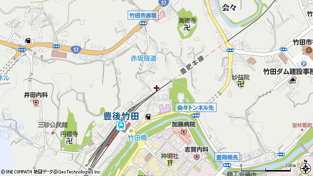 大分県竹田市会々2270周辺の地図