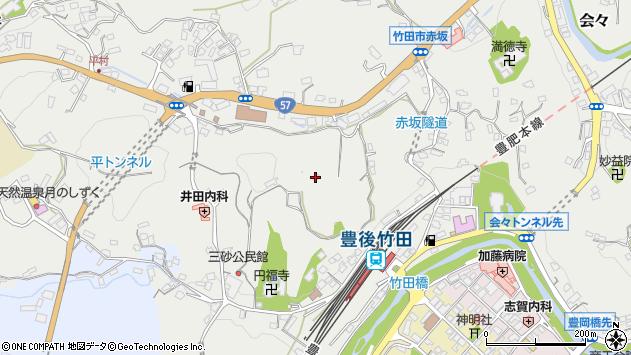 大分県竹田市会々2663周辺の地図