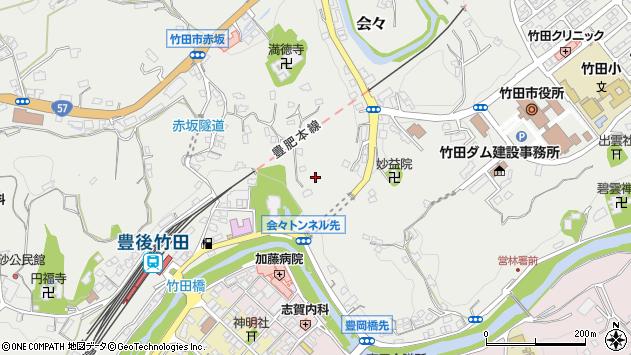 大分県竹田市会々1387周辺の地図