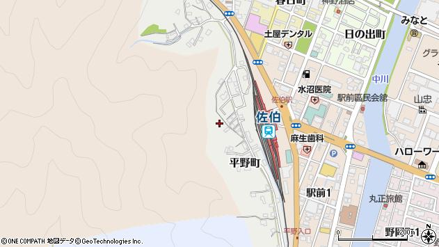 大分県佐伯市平野町4周辺の地図