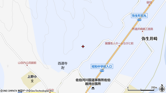 大分県佐伯市弥生大字井崎2430周辺の地図