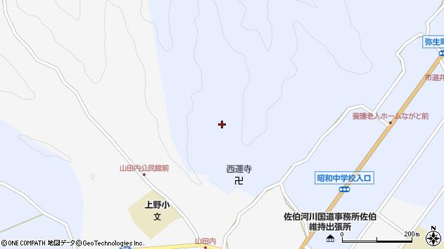 大分県佐伯市弥生大字井崎2579周辺の地図
