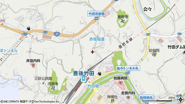 大分県竹田市会々2290周辺の地図