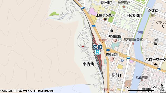 大分県佐伯市平野町5周辺の地図
