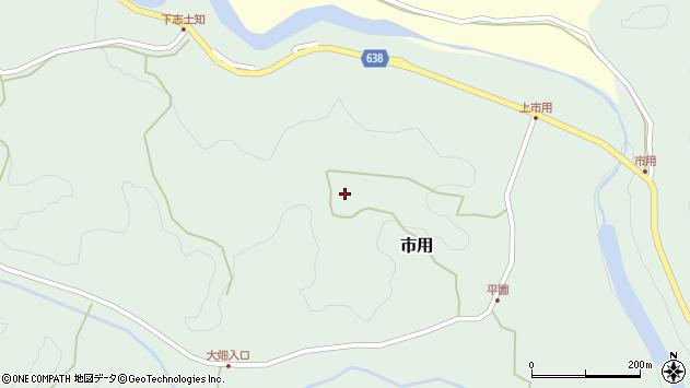 大分県竹田市市用24周辺の地図