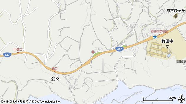 大分県竹田市会々3707周辺の地図